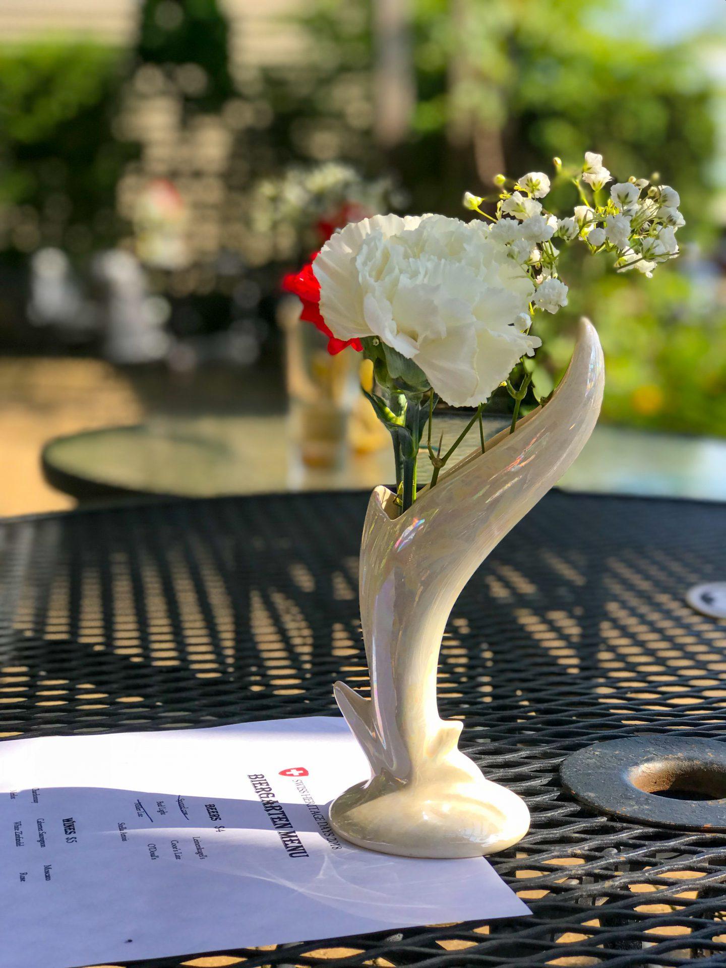 Hotel de Ville patio dining table
